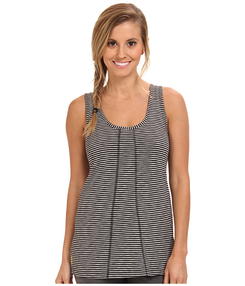 Lole - Fancy Round Neck Tank Top (Black Stripe) Women's Sleeveless