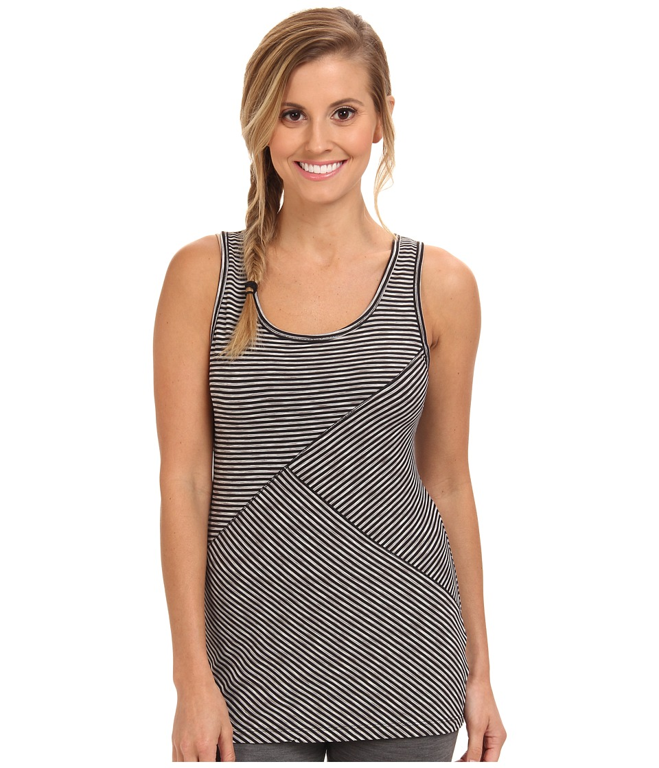 Lole - Twist Scooped Neck Tank Top (Black Stripe) Women