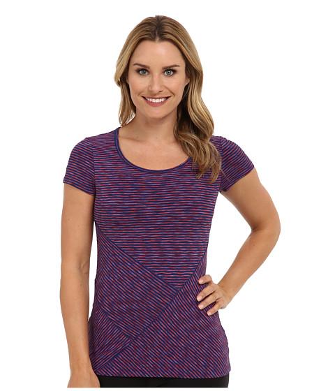 Lole - Curl S/S Tee (Estate Blue Stripe) Women's T Shirt