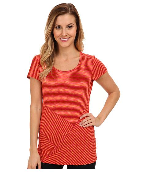 Lole - Curl S/S Tee (Red Sea Stripe) Women's T Shirt