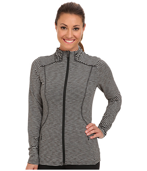 Lole - Essential 2 Full Zip Cardigan (Black Stripe) Women's Sweater