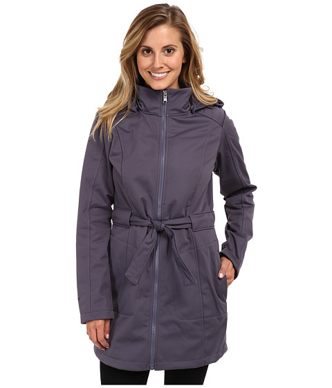 The North Face - Sashanna Soft Shell Jacket (Greystone Blue) Women's Coat