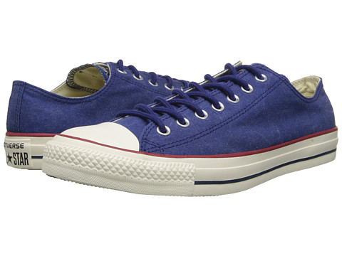 Converse - Chuck Taylor All Star Washed Canvas Ox (Victorian Blue) Lace up casual Shoes