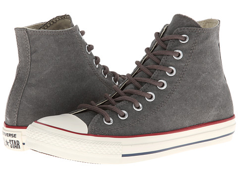 Converse - Chuck Taylor All Star Washed Canvas Hi (Charcoal) Lace up casual Shoes