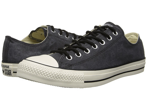 Converse - Chuck Taylor All Star Washed Canvas Ox (Black) Lace up casual Shoes
