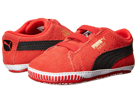 Puma Kids - Suede Crib (Infant/Toddler) (High Risk Red/Black) Boy