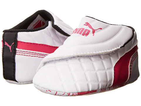 Puma Kids - Drift Cat 6 LW Crib (Infant/Toddler) (White/Fuchsia Purple/Fuchsia Purple) Girls Shoes