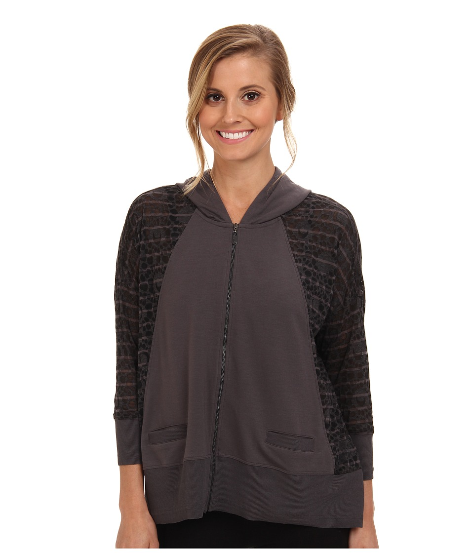 Lole - Dharma Full Zip Cardigan (Dark Charcoal) Women's Sweatshirt