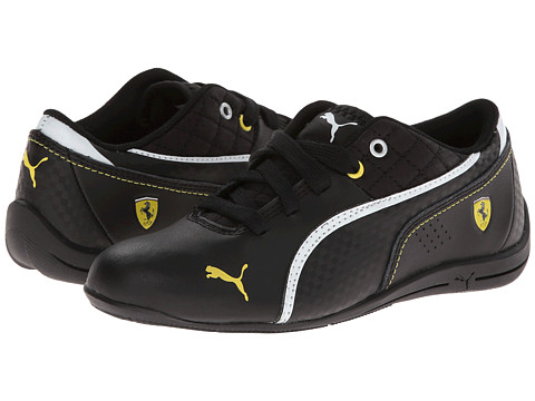 Puma Kids - Drift Cat 6 SF Jr (Little Kid/Big Kid) (Black/Black/White Multi Snake) Boys Shoes
