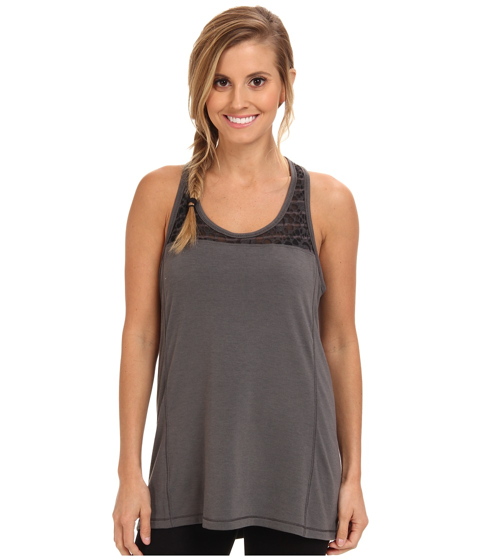 Lole - Savasana 2 Scoop Neck Tank Top (Dark Charcoal Heather) Women's Sleeveless