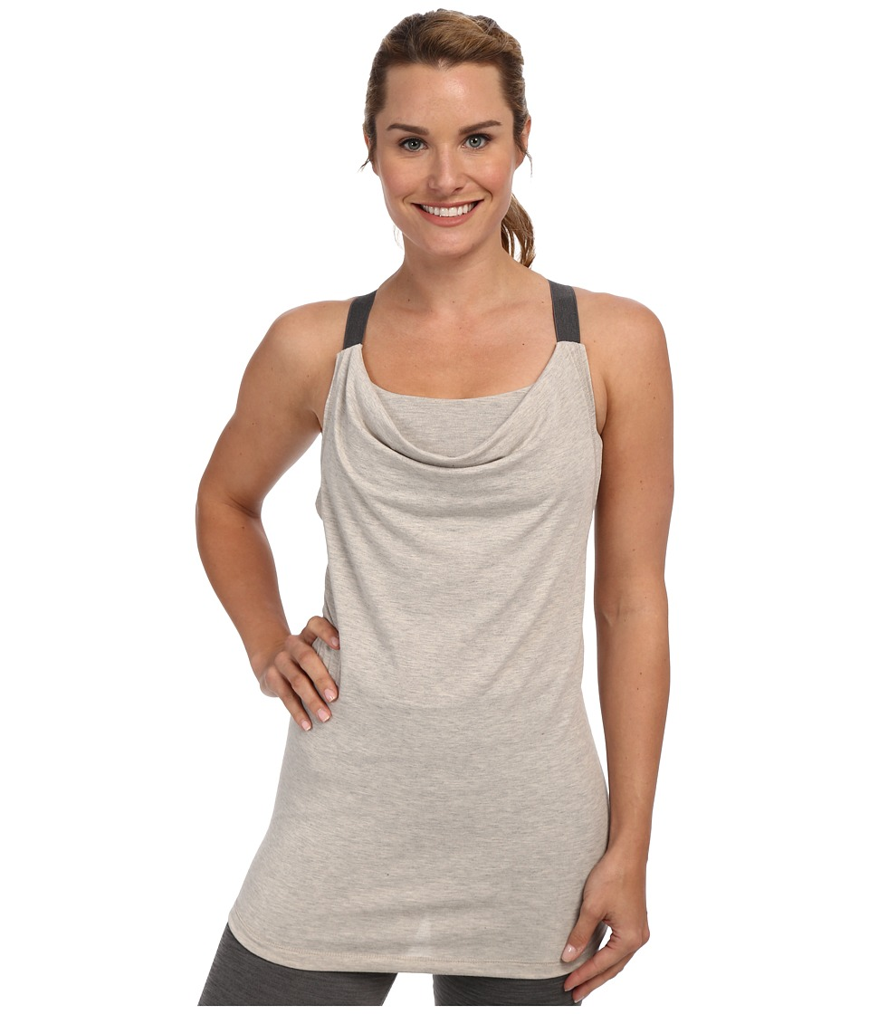 Lole - Satya Cowl Neck Tank Top (Beige Mix) Women's Sleeveless