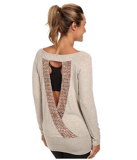 Lole - Suddhi L/S Top w/ Open Back (Beige Mix) Women's Long Sleeve Pullover