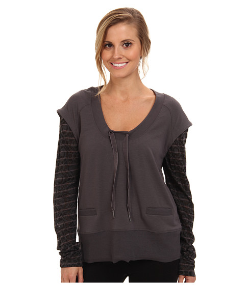 Lole - Malasa Scoop Neck L/S Top (Dark Charcoal) Women's Long Sleeve Pullover