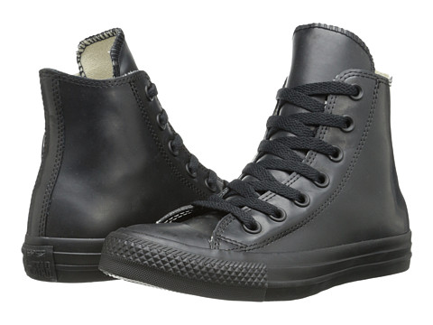Converse - Chuck Taylor All Star Rubber Hi (Black) Classic Shoes