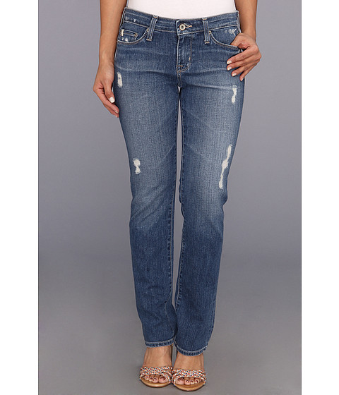 Big Star - Petite Kate Mid Rise Straight in 17 Year Parker (17 Year Parker) Women's Jeans