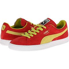 Suede Classic (Flame Scarlet/Sulphur Spring) Shoes