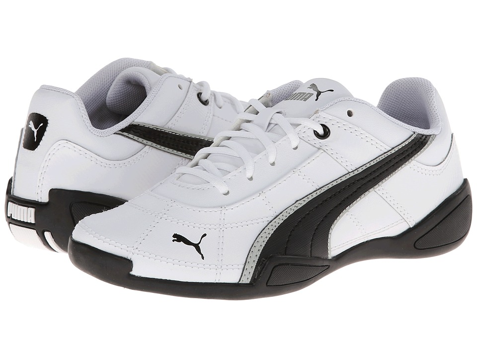 Puma Kids - Tune Cat B 2 Jr (Little Kid/Big Kid) (White/Black/Gray/Violet) Boys Shoes