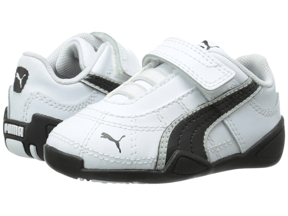 Puma Kids - Tune Cat B 2 V (Toddler/Little Kid/Big Kid) (White/Black/Gray/Violet) Boy's Shoes