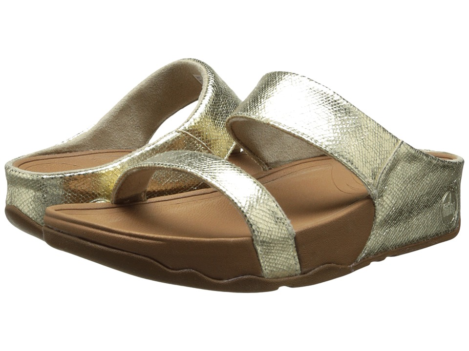 FitFlop - Lulu Slide Lustra (Pale Gold) Women's Sandals