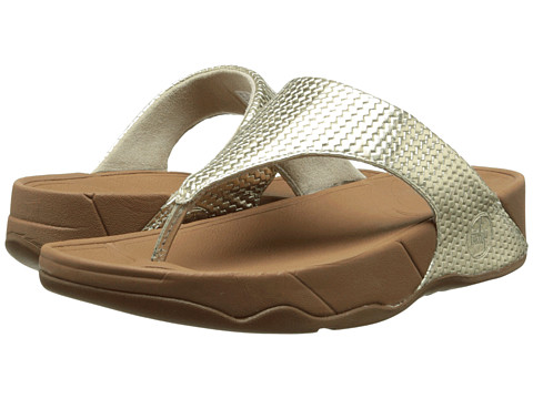 Shop FitFlop online and buy FitFlop Lulu Weave Pale Gold Womens Sandals shoes online