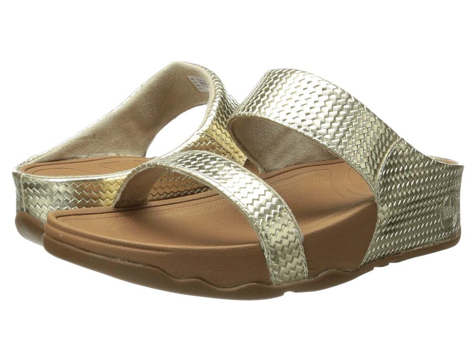 FitFlop - Lulu Slide Weave (Pale Gold) Women's Sandals