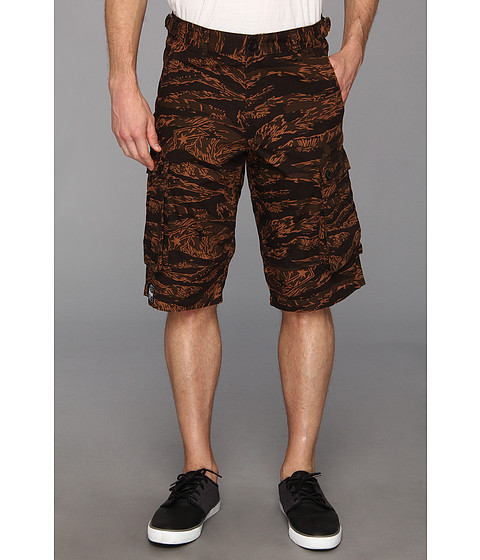 Famous Stars & Straps - Stash Cargo Short (Tiger Camo) Men's Shorts
