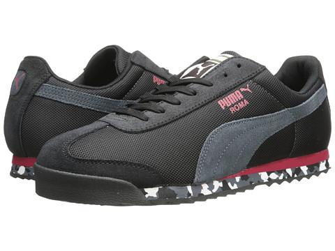 PUMA - Roma Basic (Black/Turbulence/Jester Red) Men's Shoes