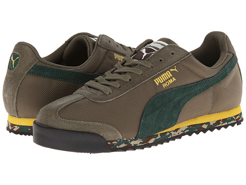 PUMA - Roma Basic (Burnt Olive/Sycamore/Ceylon Yellow) Men's Shoes