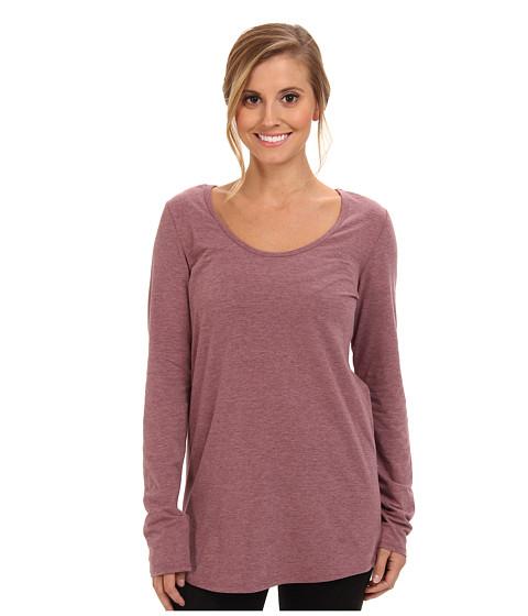 Lole - Megan 2 L/S Top (Zinfandel Heather) Women's Long Sleeve Pullover
