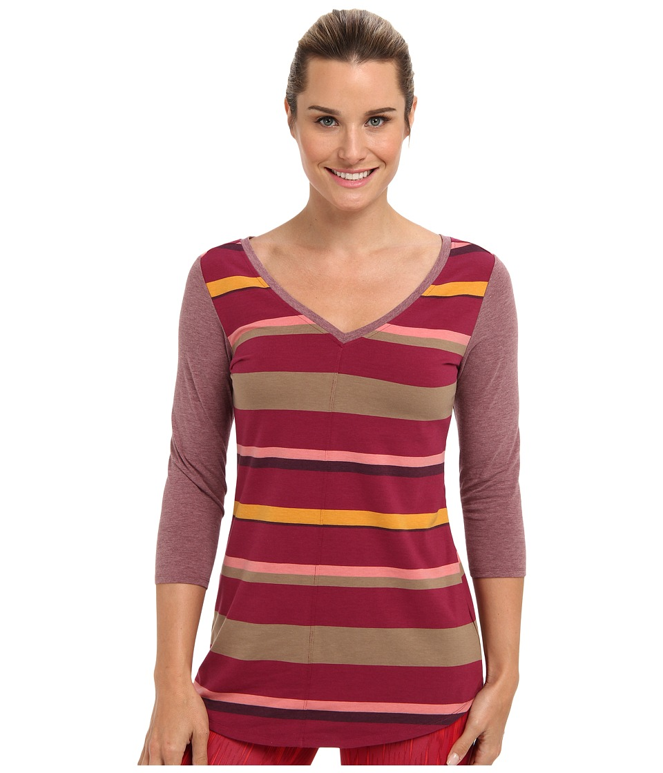 Lole - Principle 2 3/4 Sleeve Tunic (Beaujolais Multi) Women's Long Sleeve Pullover