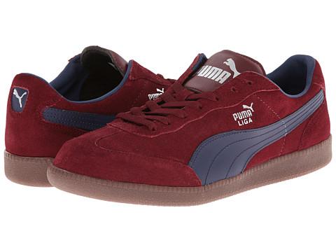 PUMA - Liga Suede Classic (Zinfandel/Peacoat) Classic Shoes