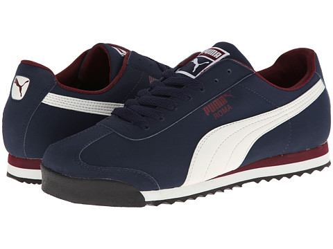 PUMA - Roma SL NBK 2 (Peacoat/Marshmallow/Zinfandel) Men's Shoes