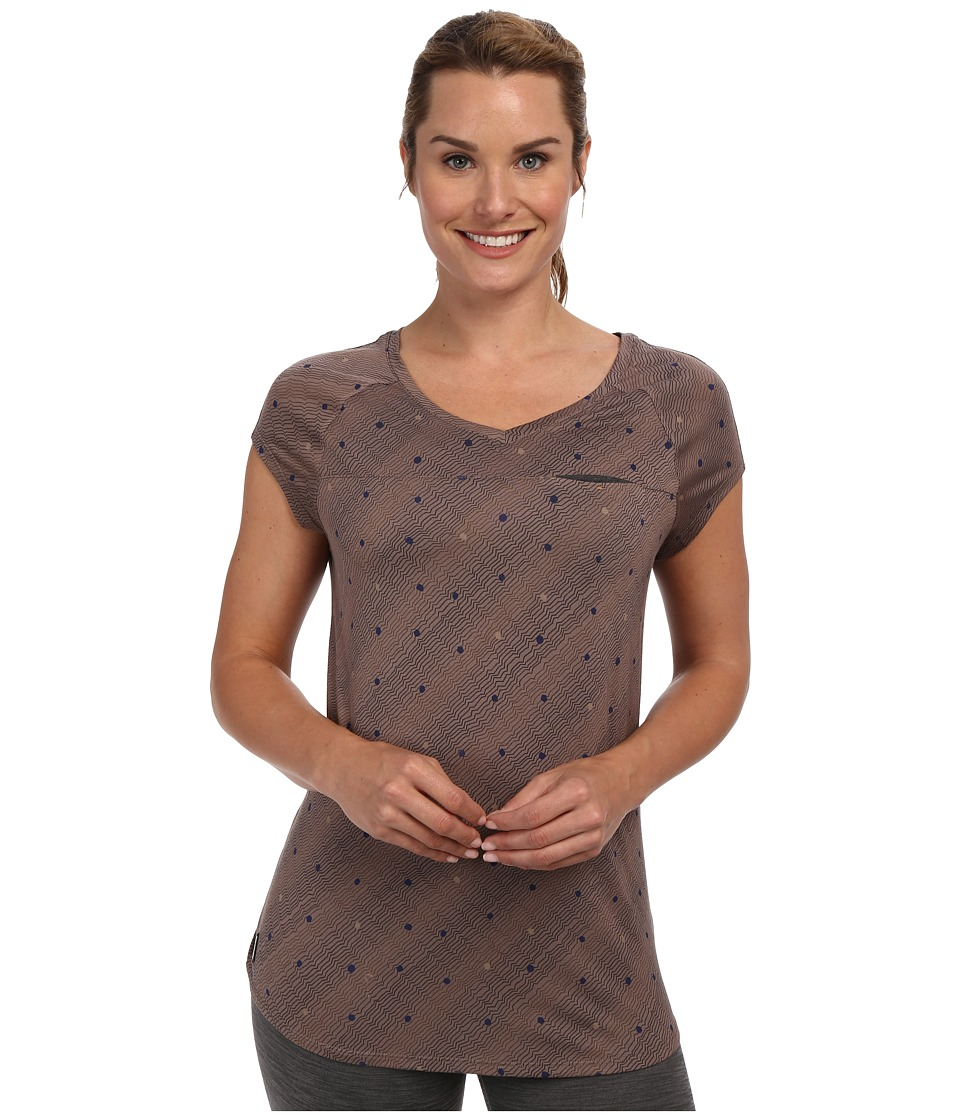 Lole - Aidan Cap Sleeve V-Neck Top (Iron Dot) Women's Short Sleeve Pullover