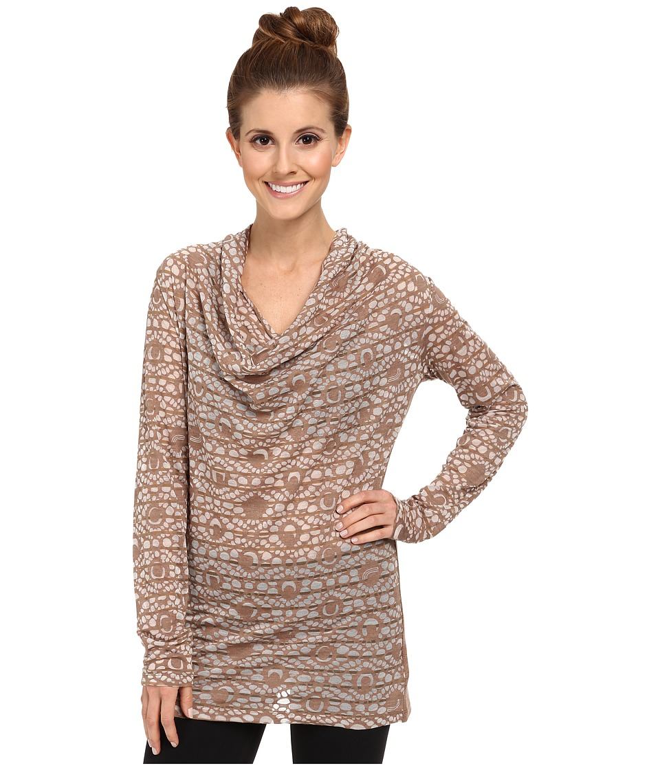 Lole - Sheer 3 L/S Top (Chanterell H Gem Stripe) Women's Long Sleeve Pullover