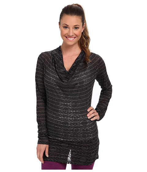 Lole - Sheer 3 L/S Top (Dark Charcoal H Gem Stripe) Women