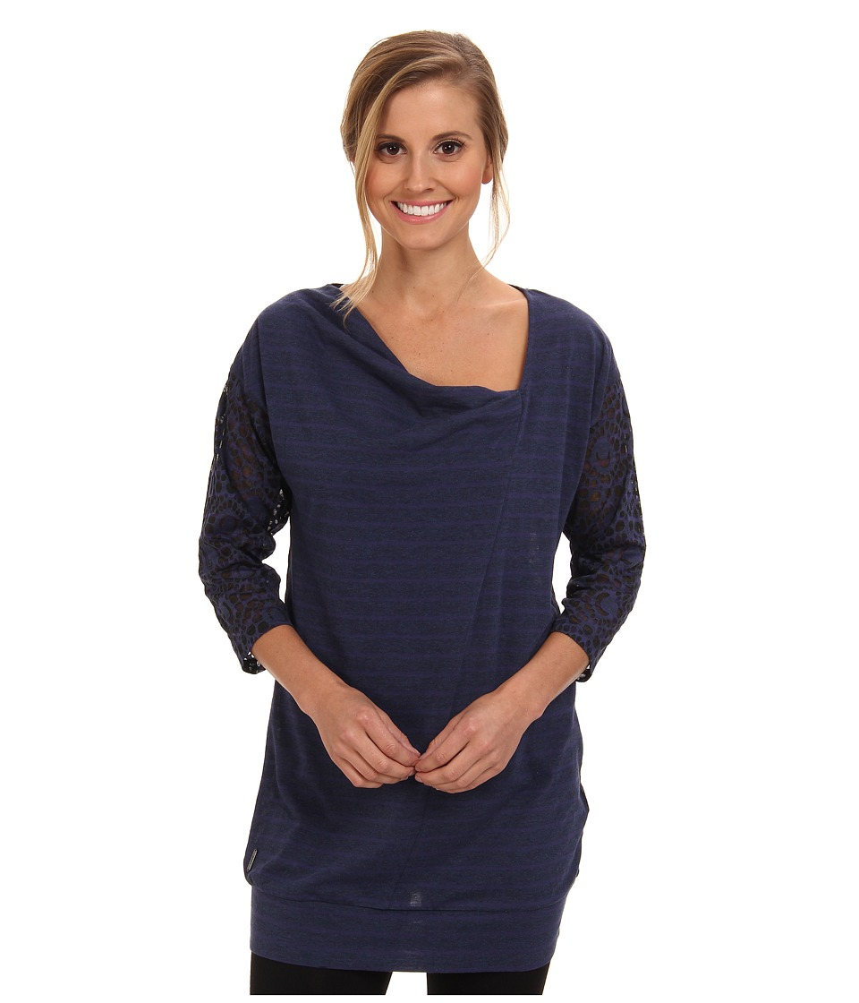 Lole Hedia 3/4 Sleeve Tunic (North Sea H Gem Stripe) Women