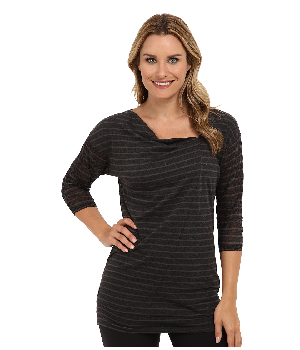 Lole - Hedia 3/4 Sleeve Tunic (Dark Charcoal H Gem Stripe) Women's T Shirt