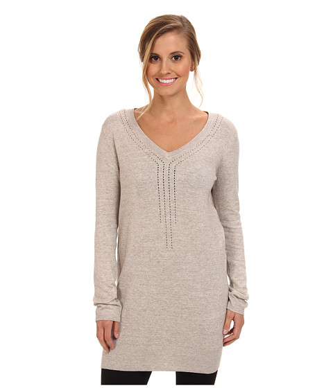 Lole - Veronica L/S Tunic (Silver Cloud Heather) Women's Sweater