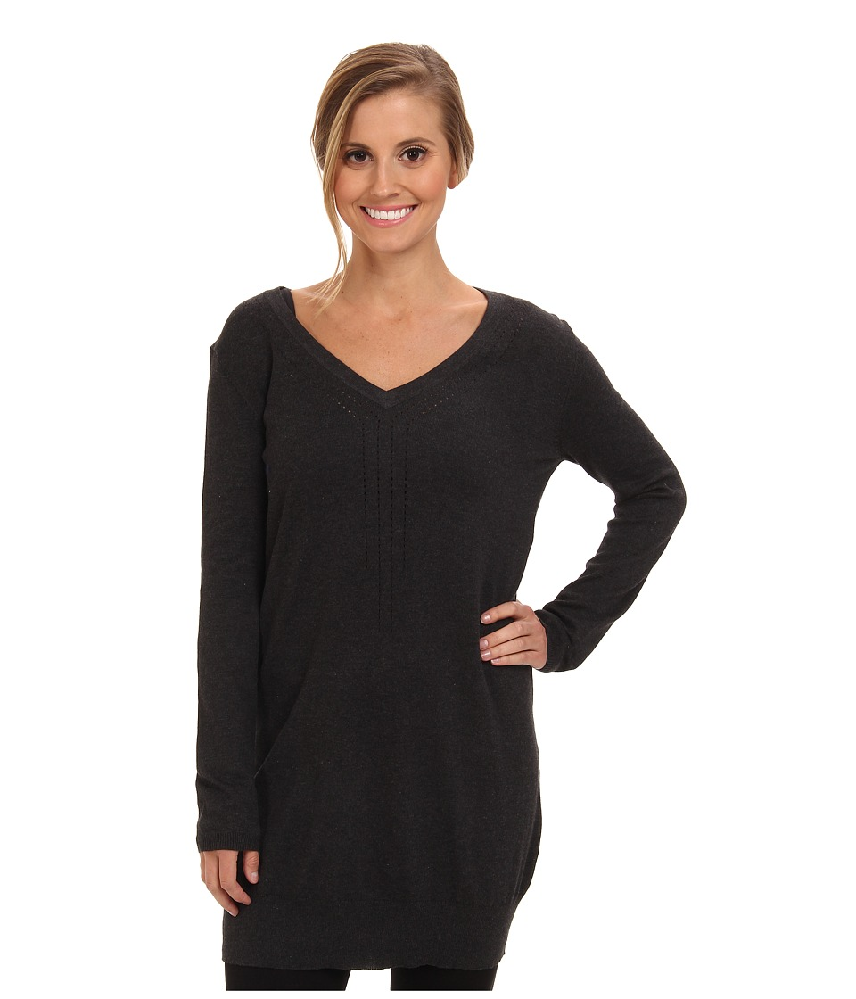 Lole - Veronica L/S Tunic (Dark Charcoal Heather) Women's Sweater