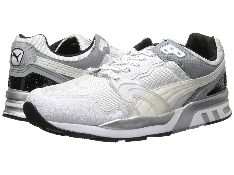 PUMA - Trinomic XT2 PLUS (White/Gray/Silver Metallic) Shoes