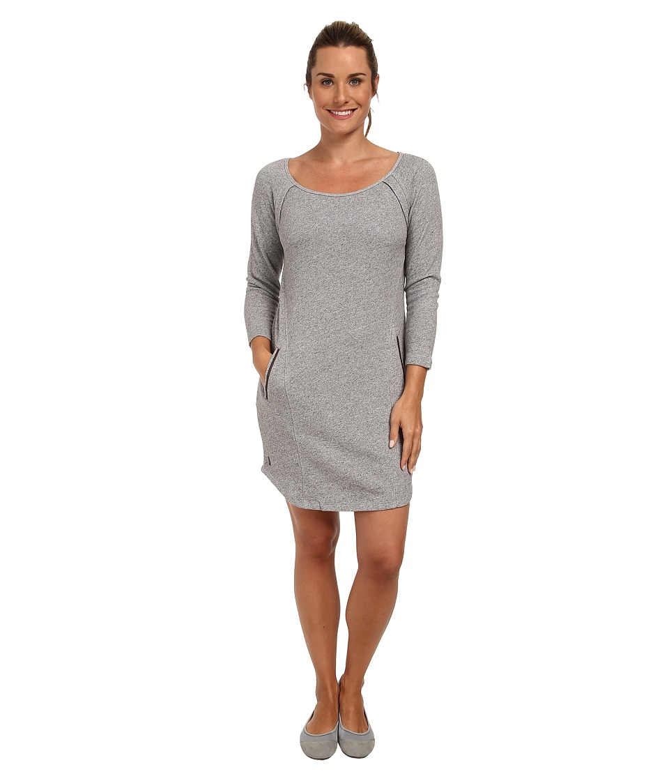 Lole - Calm 2 Long Sleeve Dress (Dark Charcoal Mix) Women's Dress