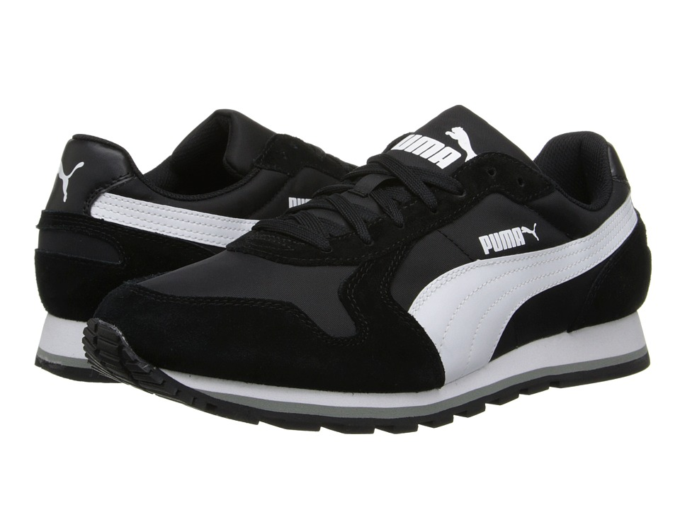 PUMA - ST Runner Nylon (Black/White) Running Shoes