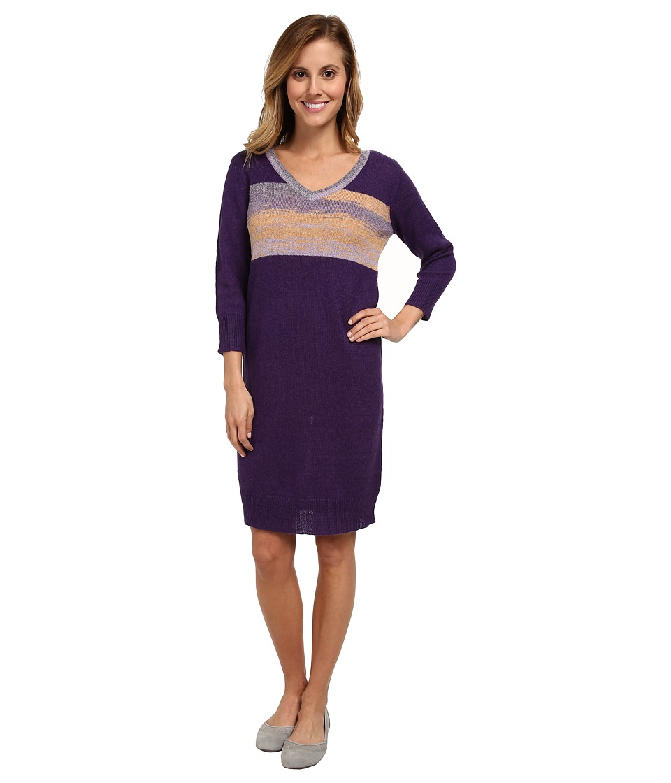 Lole Skylar Three-Quarter Sleeve Dress (Purple Silver) Women
