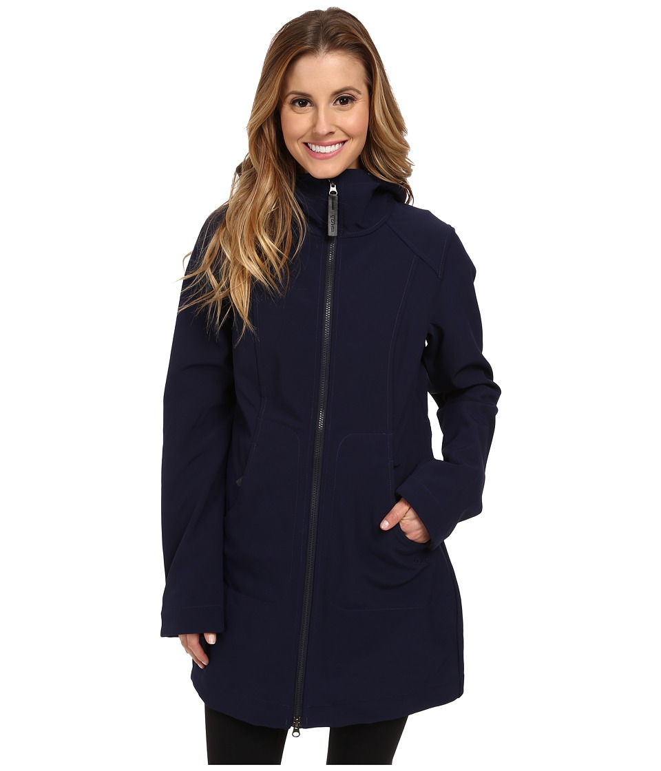 Lole - Muna Front Zip Jacket (Evening Blue) Women's Coat