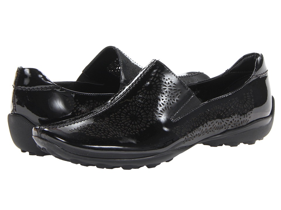 Sesto Meucci - Uriana (Black Soft Patent) Women's Slip on Shoes