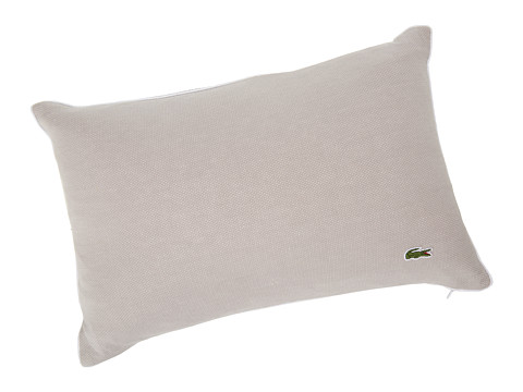 Lacoste - Jersey Caviar Pillow (Paloma/White) Sheets Bedding