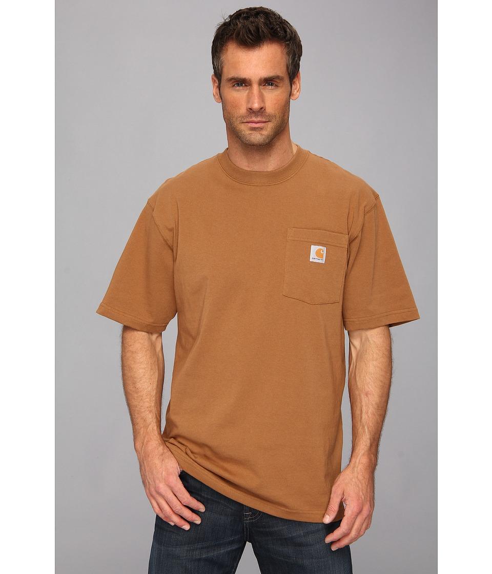 Carhartt - Big Tall Workwear Pocket S/S Tee (Carhartt Brown) Men's Short Sleeve Pullover