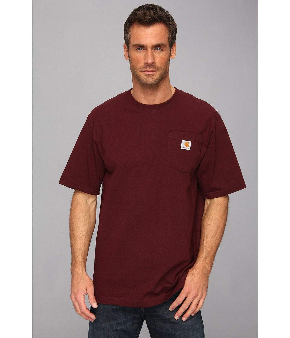Carhartt - Workwear Pocket S/S Tee K87 (Port) Men's T Shirt
