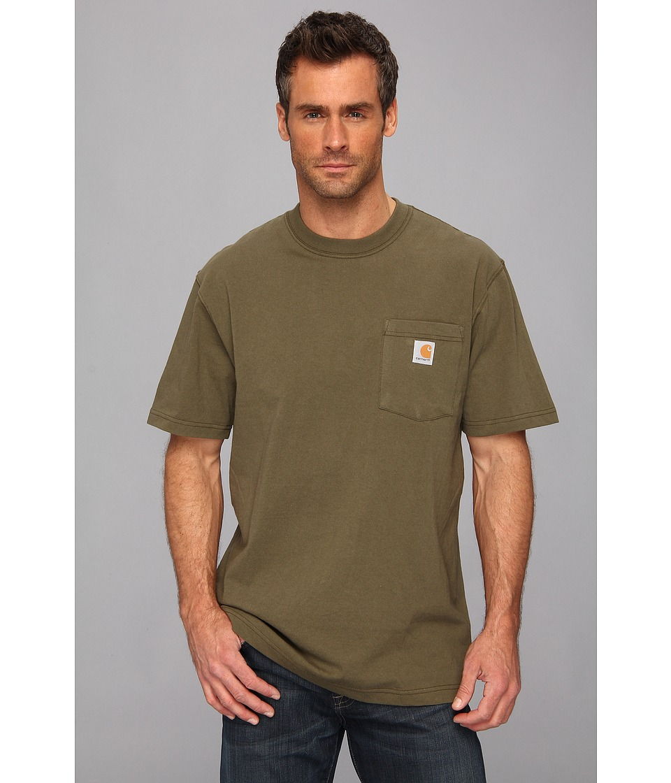 Carhartt - Big Tall Workwear Pocket S/S Tee (Army Green) Men's Short Sleeve Pullover