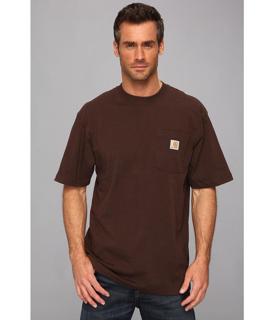 Carhartt - Workwear Pocket S/S Tee K87 (Dark Brown) Men